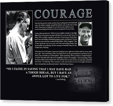 Lou Gehrig Courage  Canvas Print by Retro Images Archive