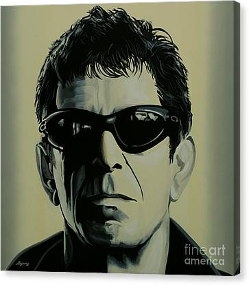 Lou Reed Painting Canvas Print by Paul Meijering