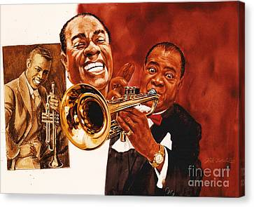 Louis Armstrong Canvas Print by Dick Bobnick