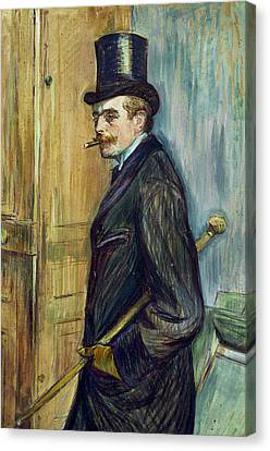 Louis Pascal Canvas Print by Henri de Toulouse-Lautrec