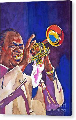 Louis Satchmo Armstrong Canvas Print by David Lloyd Glover