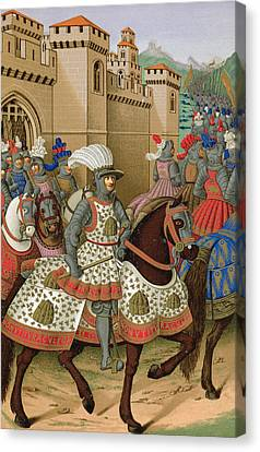 Louis Xii Leaving Alexandria Canvas Print by Jean Marot