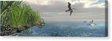 Louisiana Oil Spill Recovery Canvas Print by Nicolle R. Fuller