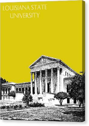 Louisiana State University 2 - Mustard Canvas Print by DB Artist