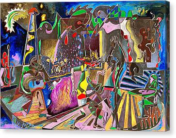Lounge Electrika Canvas Print by Art By Miko