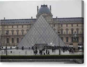 Louvre - Paris France - 011312 Canvas Print by DC Photographer