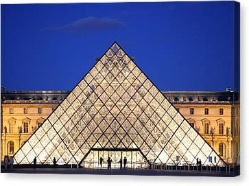 Louvre Pyramid Canvas Print by Joanna Madloch