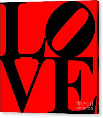 Love 20130707 Black Red Canvas Print by Wingsdomain Art and Photography