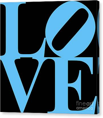 Love 20130707 Blue Black Canvas Print by Wingsdomain Art and Photography