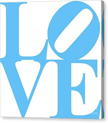 Love 20130707 Blue White Canvas Print by Wingsdomain Art and Photography