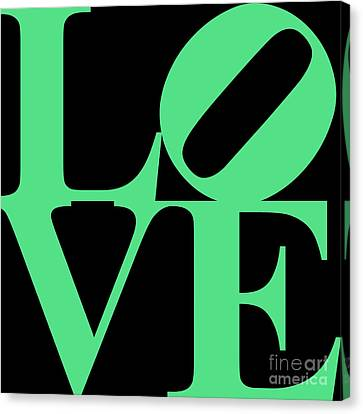 Love 20130707 Green Black Canvas Print by Wingsdomain Art and Photography