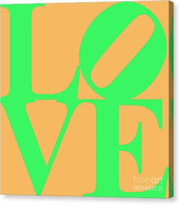Love 20130707 Green Orange Canvas Print by Wingsdomain Art and Photography