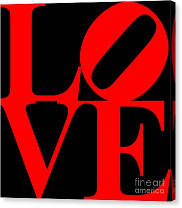 Love 20130707 Red Black Canvas Print by Wingsdomain Art and Photography