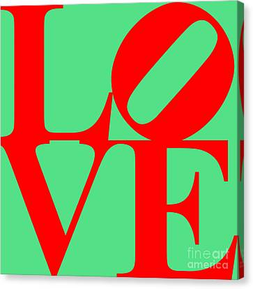 Love 20130707 Red Green Canvas Print by Wingsdomain Art and Photography