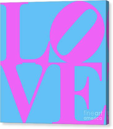 Love 20130707 Violet Blue Canvas Print by Wingsdomain Art and Photography