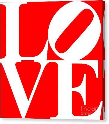 Love 20130707 White Red Canvas Print by Wingsdomain Art and Photography