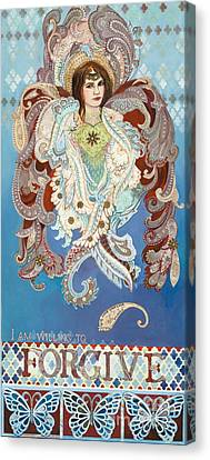 Love And Forgive Canvas Print by Diane Soule
