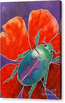Love Beetle Canvas Print by Robert Hooper