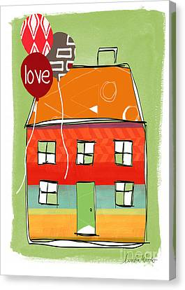 Love Card Canvas Print by Linda Woods