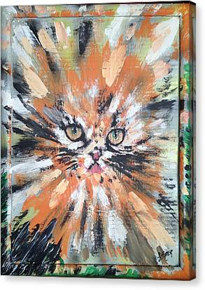 Love For Cats Canvas Print by Lisa Piper Menkin Stegeman