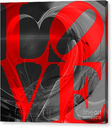 Love Heart 20130707 V1b Canvas Print by Wingsdomain Art and Photography