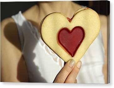 Love Heart Valentine Canvas Print by Matthias Hauser
