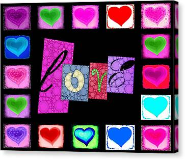 Love Hearts Canvas Print by Cindy Edwards
