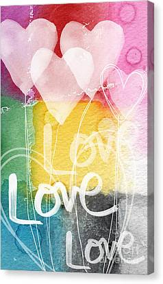 Love Hearts Canvas Print by Linda Woods