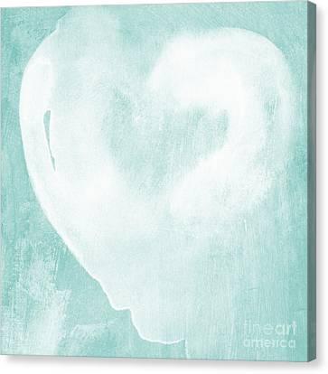 Love In Aqua Canvas Print by Linda Woods