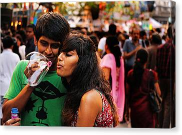 Love In The Air Canvas Print by Money Sharma