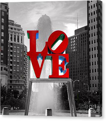 Love Is Always Black And White Square Canvas Print by Paul Ward