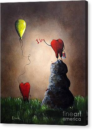 Love Is Playful By Shawna Erback Canvas Print by Shawna Erback