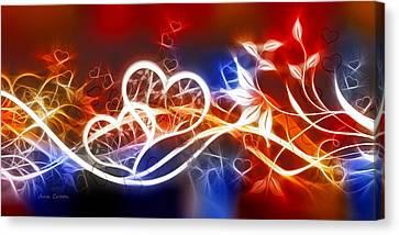 Love Lines Canvas Print by Ann Croon