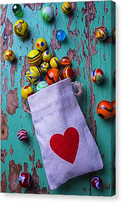 Love Marbles Canvas Print by Garry Gay