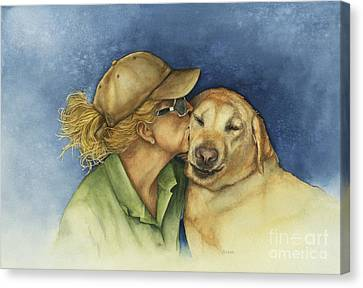 Love Me Love My Dog Canvas Print by Nan Wright