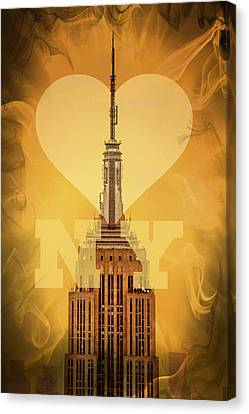 Love New York Canvas Print by Az Jackson