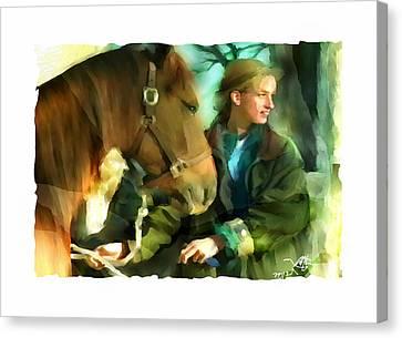 Love Of Horses Canvas Print by Bob Salo