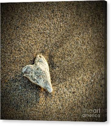 Love On The Beach Canvas Print by Peggy Hughes