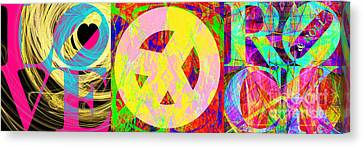 Love Peace And Rock And Roll Return To The Summer Of Love 20140605 Canvas Print by Wingsdomain Art and Photography