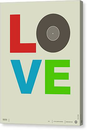 Love Poster Canvas Print by Naxart Studio