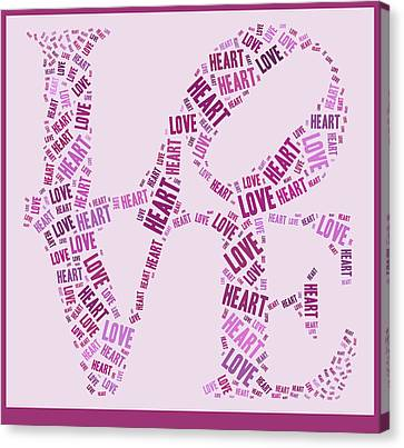 Love Quatro - Heart - S44b Canvas Print by Variance Collections