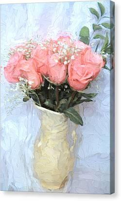 Love Silently - Flower Art Canvas Print by Jordan Blackstone