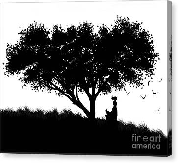 Love Stands Waiting Canvas Print by Robert Foster