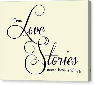 Love Stories Canvas Print by Jaime Friedman