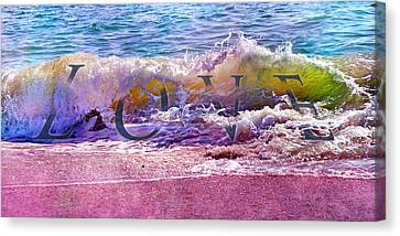 Love The Wave Canvas Print by Betsy C Knapp