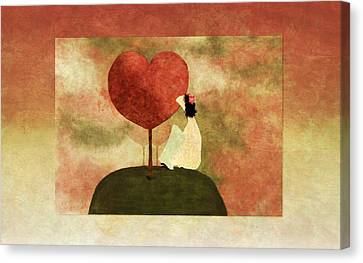 Love Tree -01b Canvas Print by Variance Collections