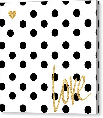 Love With Dots Canvas Print by South Social Studio