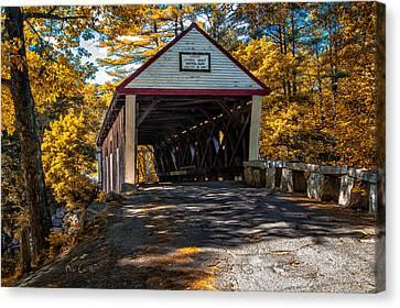 Lovejoy Covered Bridge Canvas Print by Bob Orsillo