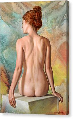 Lovely Back-becca In Abstract Canvas Print by Paul Krapf