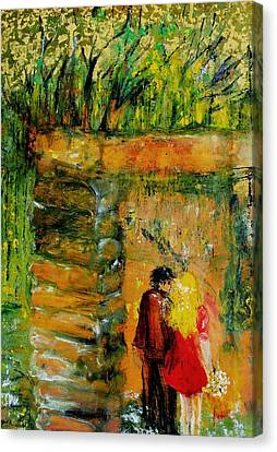 Lovers Canvas Print by Evelina Popilian